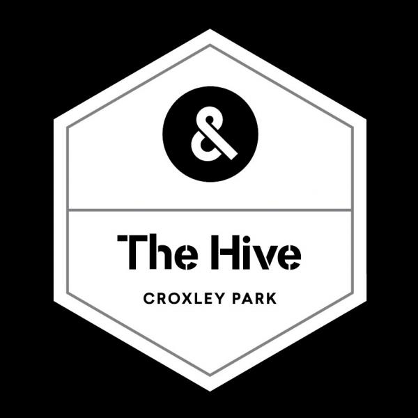 The Hive Logo Bw